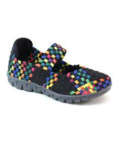 Look at this #zulilyfind! Black & Blue Slip-On Sneaker - Kids by Italina #zulilyfinds