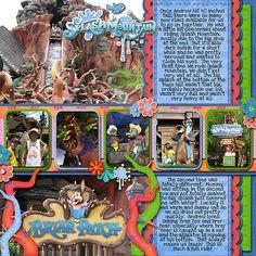 Disney Scrapbook Layout, Splashwater Falls