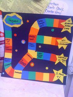 Chore/reward board game.