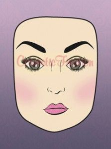 contouring a square face, contours, tutorials, squar face, face shapes, makeup, beauti, contour oval face, highlights