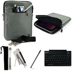 Silver Gray Mighty Nylon Jacket Slim Compact Protective Sleeve Shoulder Bag Case with accessories For Apple iPad 3 Tablet (all 3rd Generation Versions) + Includes a eBigValue (TM) Determination Hand Strap + Includes a Pocket 2 Way Adjustable Tablet Stand + Graphic Designer Stylus Pen + Wireless Bluetooth Keyboard with building rechargeable battery by eBigValue. $63.95. Protect your device with our Mighty Jacket Case // Fits very well with your device, feature with two ...