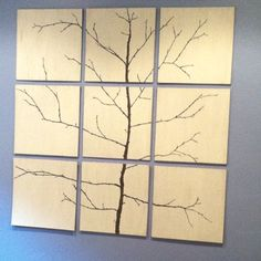 If you can't find the art you want, make it yourself!! Trace tree branches and paint
