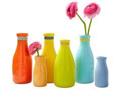 Spraypainted Bottles & Jars: Flea Market Flips : Decorating : Home & Garden Television