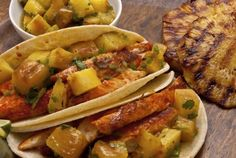 Adobo Fish Tacos with Grilled Pineapple Salsa : Pati's Mexican Table