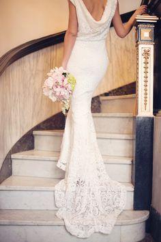 Sleek dress from theflowerbride.com | Read More: http://www.stylemepretty.com/little-black-book-blog/2014/07/14/vintage-getting-ready-wedding-inspiration/ | Photography: Audra Wrisley Photography - www.audrawrisley.com