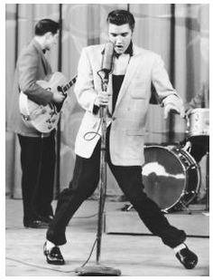 """In the 1950s Elvis Presley's music and """" suggestive """" dancing was the subject of considerable controversy. Critics saw him as a dangerous influence on American teenagers, particularly if those teenagers were white, Northern, and middle class. ©    Bettman/CORBIS  Full Text: COPYRIGHT 2004 Macmillan Reference USA, COPYRIGHT 2006 Gale, Cengage Learning."""