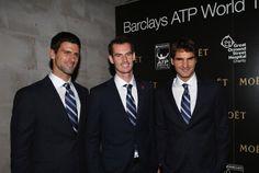 Djokovic, Murray And Federer Pose Together