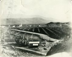 Historypin   Map   Hillside photograph of Camarillo State Hospital and surrounding farmland