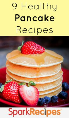 Wholesome, low-cal and healthy pancake recipes you need to try! | via @SparkPeople #food #breakfast #brunch #diet #nutrition