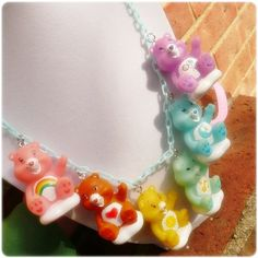 I want this! Carebear necklace