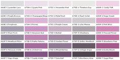 purple paint chips