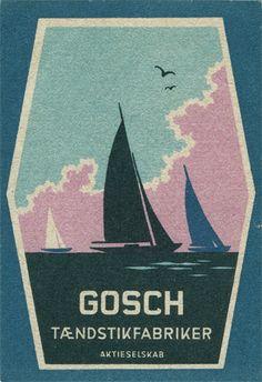 Danish matchbox label