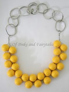 Anthro inspired necklace tutorial.
