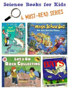 {4 Amazing Science Series for Kids} Learn about these great Science Books for Kids + a Giveaway of one book from each of our favorite series!