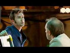 """Doctor Who Special: """"Time Crash"""" - A missing scene between the end of season three and the start of season 4, in which Ten and Five meet in a time crash!...Because this is Tennant at his finest, being the fanboy he truly is, talking to the Doctor who made him the Doctor he became. It's so much of the truth...made into a story, just as stories ought to be."""