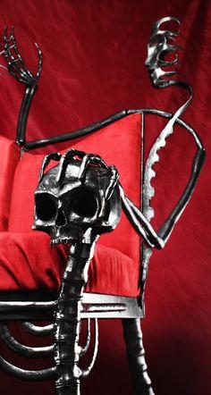 chair decor, gothic interior, gothic life, chairs, skull chair, bone, hous, awesom, furnitur