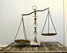 Vintage Scales of Justice. Gorg. Must have for my law school graduation party.