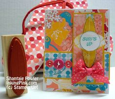 Stampin Up Just Surfing set-Summer Time surfing-card for a girl