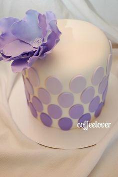 Purple Ombre Cake cake perfect, purple ombre cakes, purpl cake, cake art, birthday cake, ombr cake