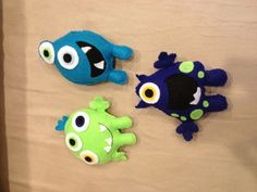 Felt monsters for mobile.