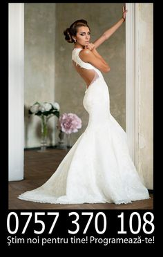 Beautiful low back wedding gown by Bien Savvy