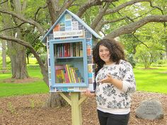 Abby Maynard. Fairport, NY. This Little Free Library is a Girl Scout Silver Award project. This was created to help inspire readers to read in our community. On it is reading quotes for inspiration. Meant for all readers of any age.