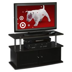 TV Stand with 2 Cabinets - Espresso