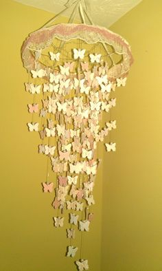 Butterfly chandelier mobile ceiling hanging by mspuffinsboutique, $30.00