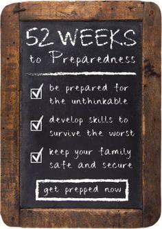 52 Weeks to Preparedness