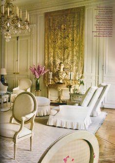Susan and John Gutfreund's Parisian pied-a-terre designed by Henri Samuel.
