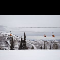 The Canyons Ski Resort in Park City, Utah Even though this SCARES me to death, I love going over this huge canyon;/