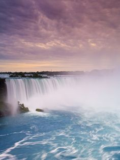 Waterfall at Niagara Falls, Ontario, Canada