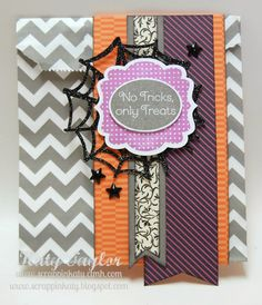 Card using Scaredy Cat papers from Close To My Heart