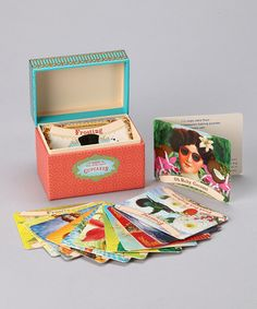 Look what I found on #zulily! Cupcakes Vintage Recipe Box #zulilyfinds