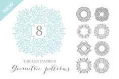 Eastern inspired geometric Art Vol1 by Nicky Laatz on Creative Market