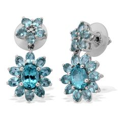 Liquidation Channel | Paraiba Apatite Earrings in Platinum Overlay Sterling Silver (Nickel Free)