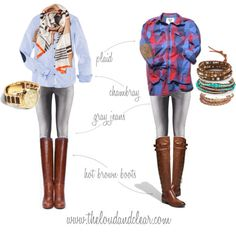fashion, style, elbow patches, cloth, gray jeans outfit, denim shirts, plaid shirts, jean outfits, brown boots