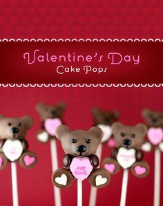 Valentine Cake Pops via @Erin Phillips
