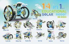 OWI 14-In-1 Educational Solar Robot Kit - TowerHobbies.com $23.99
