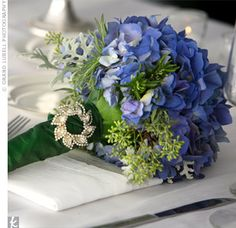 Deep Blue Hydrangeas are so classic and romantic.  Love them!