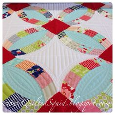 QuiltedSquid Quilting: Metro Rings with Moda Miss Kate Quilt is done!!!