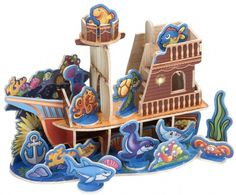 Wood Playsets: Sunken Ship at theBIGzoo.com, a family-owned toy store.