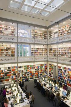 Biblioteca de la Universidad de Utrecht (Países Bajos).