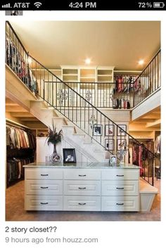 2 story closet....