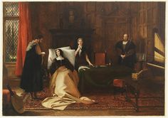 Catherine of Aragon at her death bed