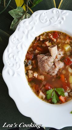 """Lea's Cooking: Russian Rassolnik Soup """"Рассольник""""  Rassolnik — is a soup that is part of Russian cuisine. It's especially famous for its unusual taste which is due to the combination of pickles and barley. Enjoy this great recipe from my sister Inna."""