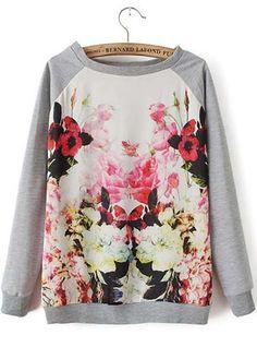 flower print swatshirt