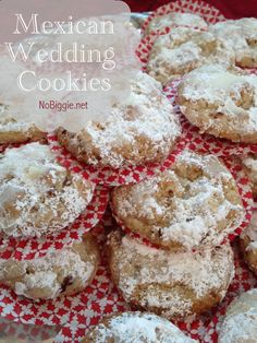 Mexican Wedding Cookies (recipe) | NoBiggie.net | These cookies are great for a cookie exchange.