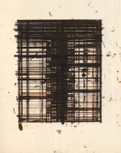 """""""Untitled,"""" by Brice Marden, ink and gouache on paper, 15 1/2 by 12 inches, 1980"""