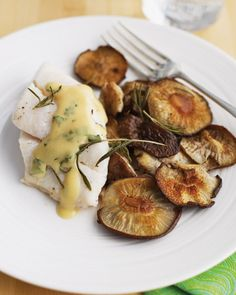 Roasted Shiitakes and Pacific Cod, Wholeliving.com #detox #dinner